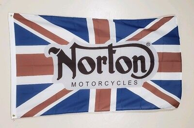 Norton Banner 3x5 Ft Flag Motorcycles Garage V4 RR Dominator Commando Racing