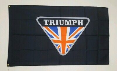 Triumph Motorcycles Banner 3x5 Ft Flag Garage Wall Decor Man Cave Daytona Rocket