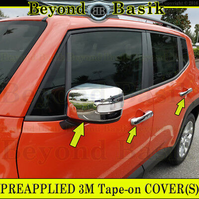 2015 2016 2017 JEEP RENEGADE Chrome Door Handle COVERS w/o SK+Mirror w/Signal HL