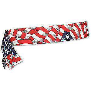 CHILL-ITS B Cooling Bandana,One Size,PVA And Cotton, 6705CT, Red, White and Blue