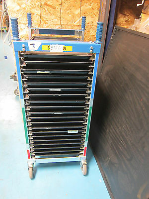 Bliss Chrome Product Small Rolling  Rack W/ 20 Trays