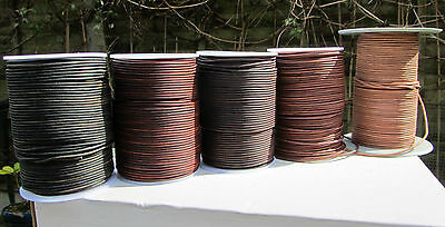 Top Quality  Soft Antique Goats Leather Cord 2mm