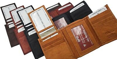 4f762b81c4dc AG WALLETS MENS RFID Trifold Wallet Removable Flap Signal Blocking 3 ID 11  Card