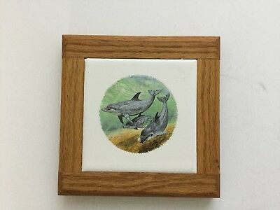 CERAMIC DOLPHIN Tile Trivets Mosaic Look Made In Brazil By Eliane - Ceramic tile made in brazil