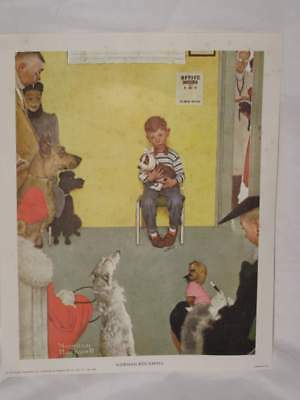 Norman Rockwell print Vet Visit Veterinarian Dogs Pets 8 x 10