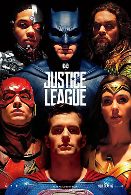 """Justice League Movie Superman Gal Gadot HQ New Poster 13×20 24×36"""" 27×40"""" 32×48"""""""