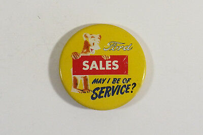 Vintage  1940's - 50's Ford Sales Dept. Pin Back Sales Button