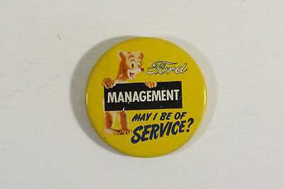 Vintage  1940's - 50's Ford Managment Dept. Pin Back Sales Button