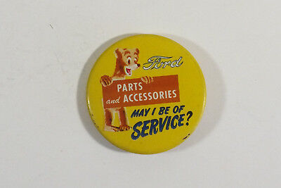 Vintage  1940's - 50's Ford Parts & Accessories Dept. Pin Back Sales Button