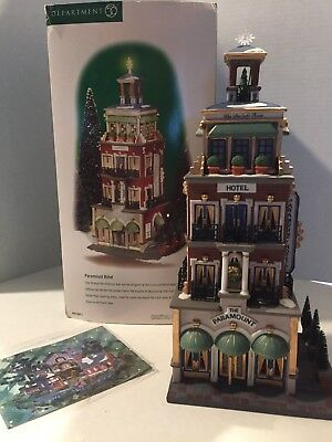 Department 56 Christmas in the City Paramount Hotel Retired 58911 Lights  ***NEW