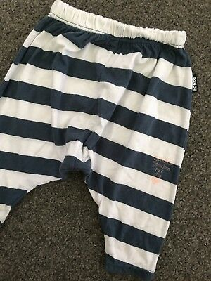 Size 0-3M (000) ~ BONDS ~ Striped Elastic Waisted 'Roomies' Pants ~ PERFECT!