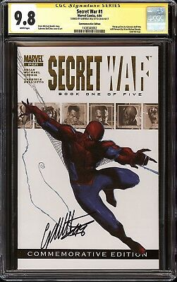 Secret War #1 Commemorative Variant CGC SS 9.8 SS Signed Gabriele Dell'Otto NM/M