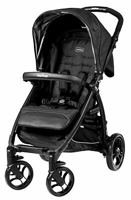 Brand New! Peg Perego Booklet Onyx Black Stroller Bundle Sealed! Made In Italy