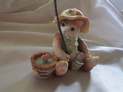 "Vintage Enesco Calico Kittens "" I'm Hooked On You"" 1995"