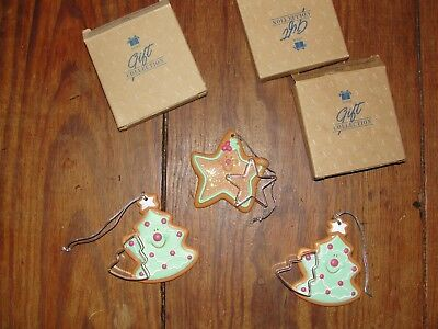 Avon gift collection Christmas ornaments Cookie Cutter Star and two Trees