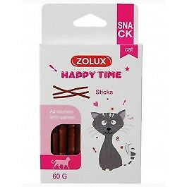 Zolux Happy Time Sticks au Saumon pour chat 60 g