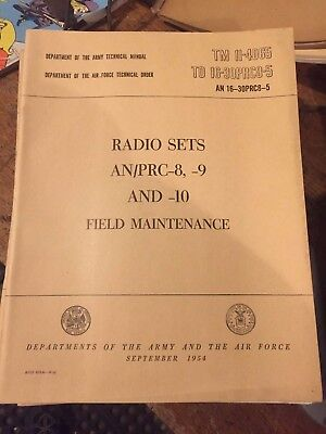 TM 11-289 RT 66 67 68 VRC 8 9 10 Technical Manual M38 M38A1 M37 Army Jeep Truck