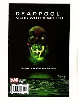 Deadpool: Merc with a Mouth #6 (2010, Marvel) FN Alien Movie Poster Homage Cover
