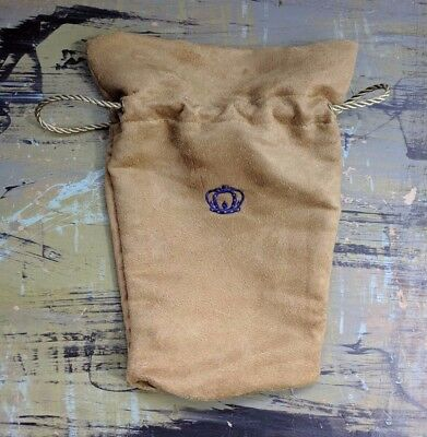 Crown Royal Special Reserve Tan Suede Bag Fifth Size 750 ml Drawstrings EUC