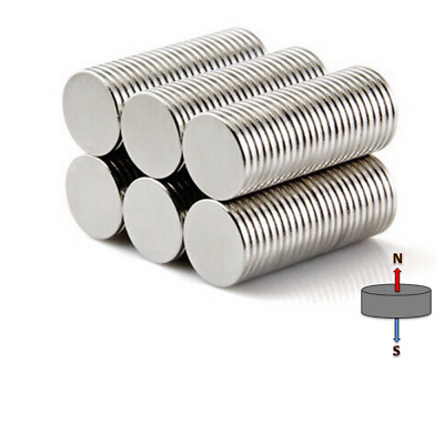 20x Super N52 9.53mm x 0.79mm Thin Disc Magnets Rare Earth | Neodymium Fridge