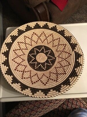 Papago Indian Basket Close Coil 19 Inches By Ester Lopez