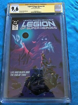 Legion of Super-Heroes #50 - DC - CGC SS 9.6 NM+ - Signed by Keith Giffen