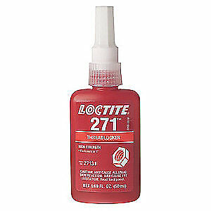LOCTITE Threadlocker 271,250mL Bottle,Red, 27141