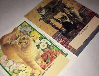 Kitty Cat Orange Tabby Trio 24 Bookplates Book Plates Lesley Anne Ivory