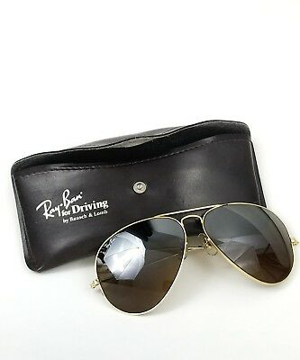 Vintage Bausch Lomb Aviator Ray Ban Sunglasses for Driving w/Case