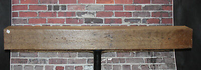 Rustic Reclaimed Mantle Sawn Oak Barn Beam Mantel Floating Shelf  53 3/4""