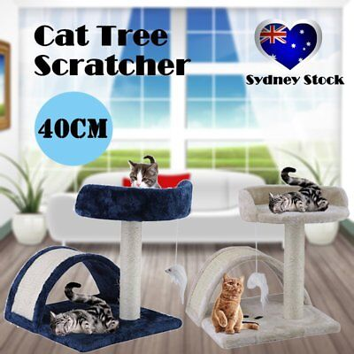 Cat Scratching Post Tree Gym House Furniture Scratcher Pole Toy Small 40cm RR