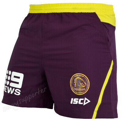 Brisbane Broncos 2018 NRL Training Shorts Sizes Adults and Kids Sizes BNWT