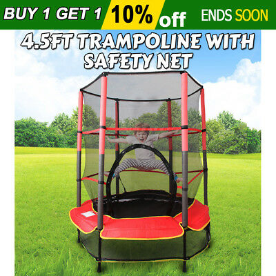 Indoor Outdoor Kids Junior Trampoline Enclosure Safety Net 55'' Exercise 4.5ft