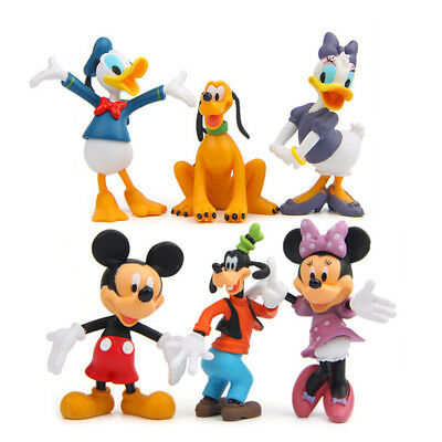 6pcs Disney Mickey Mouse Clubhouse Figure Set Cake Topper Toy Doll Kid Xmas Gift