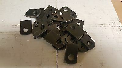 "Weld On  Steel Flat Tab Brackets 25 pcs- 1"" x 1-1/2"" x 1/8""  thick,3/8 hole."