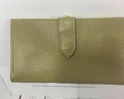 Vintage Sheffield Womens Wallet 60s Green Celery Leather Buffalo Calf Coin Purse
