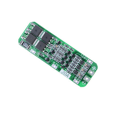 3S 20A 12.6V Cell 18650 Lion Lithium Battery Charger BMS Protection PCB Board FT
