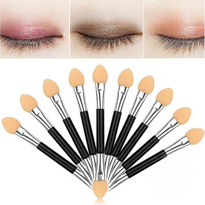 12 Double-ended Disposable EyeShadow sponge Applicators Brushes Makeup Tool FT