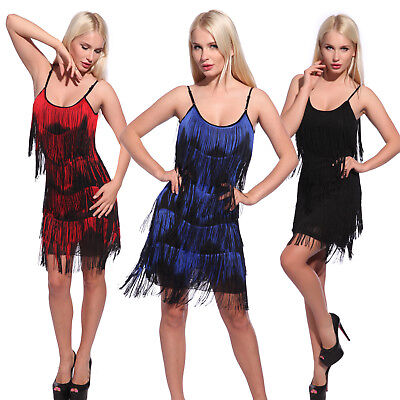 Ladies Cocktail Flapper Fancy Dress Costume 20s 30s Charleston Gatsby Outfit