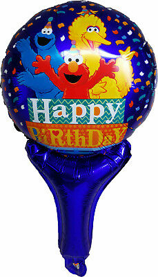 Sesame Street Elmo Big Bird Cookie Monster Air Fill Balloon Birthday Party Gift