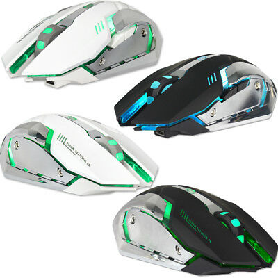 2.4GHz 7 LED Backlit Wireless Optical USB Gaming Mouse For PC Laptop Computer