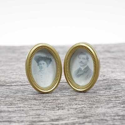 Medieval Couple Lover Painting Picture Frame Art for Dollhouse Miniature 1:12