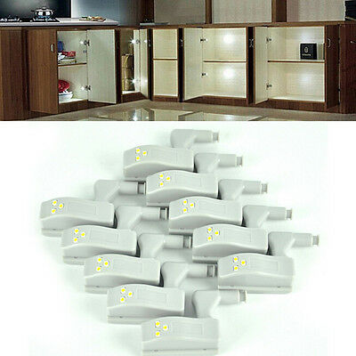 10pcs LED Light For Universal Cabinet Cupboard Hinge Moden Home Kitchen Lamp FT