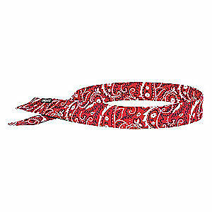 CHILL-ITS BY  Acrylic Polymer Evaporative Cooling Bandana,Red, 6705, Red Western