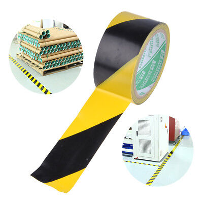 18M Black & Yellow Pvc Roll Self Adhesive Hazard Safety Caution Warning Tape New