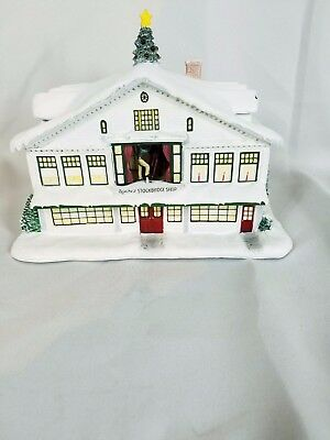 "Hawthorne Village Norman Rockwell's Christmas Village ""Rockwell's Studio"" **New"