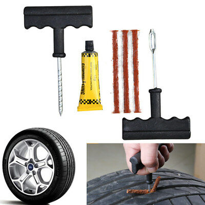 1Set Auto Car Tubeless Tyre Puncture Plug Tire Repair Motorcycle Cement Tool Kit