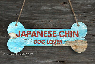 Japanese Chin  Aluminum Dog Bone Sign