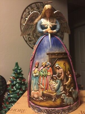 "Stunning Jim Shore ""A Star Shall Guide Us"" 2005 Retired Figurine NIB 11 inches"