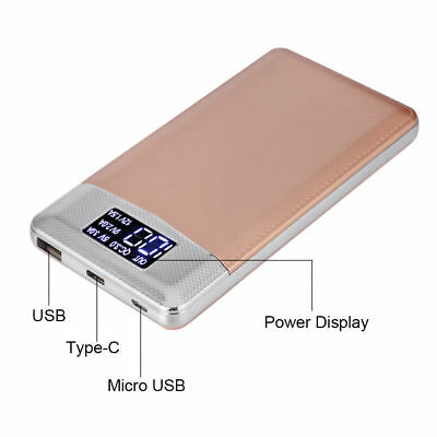 30000mAh Quick Charge Type-C Micro USB Power Bank LCD Battery Charger DIY Kit